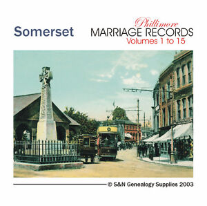 Somerset Parish Registers - Complete Phillimore Marriages Records