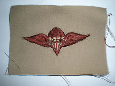 US ARMY DESERT PARACHUTE RIGGER BADGE INSIGNIA -BROWN