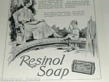 1923 Resinol Soap advertisement, 20's era Mom, Dad & Son