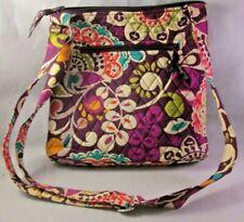 Vera Bradley Shoulder Bag Purse Purple Pink Floral Black