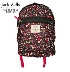Jack Wills Backpack Floral and Pink School Women Child Brand New