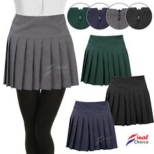 Womens Ladies Young Adults Girls Pleated Back Zip School Uniform Britney Skirt �€�