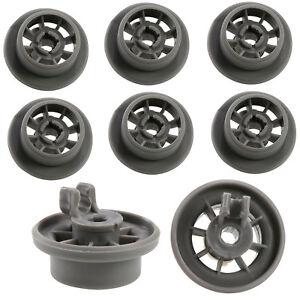 8X Lower Bakset Wheels For Bosch Thermador Gaggenau Dishwasher 420198 165314