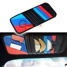 M-Colored Sport Stripe Car CD DVD Holder Disc Disk Storage Sun Visor Clip Bag