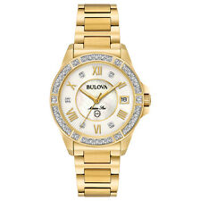 Bulova Marine Star Women's 98R235 Quartz Diamond Accents Gold-Tone 32mm Watch