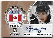2016-17 Leaf ITG H&P International Ice Benoit-Olivier Groulx Bronze Auto RC