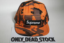 5 PANEL SUPREME QUILTED ORANGE CAMO CAP HAT CAPS SNAPBACK CAMP MILITARY BROWN