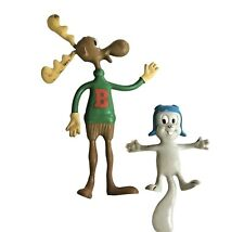 New ListingVintage 1985 Jesco Rocky and Bullwinkle Rubber Bendable Figures Bendy