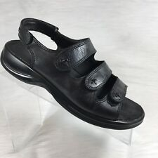 Ecco Women's sandals slingback scrappy Black Leather size 39 US 8 8.5