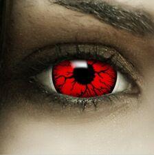 "Maxi Sclera Lenses ""Devil"" rote Kontaktlinsen Crazy Farbige Halloween Linsen"