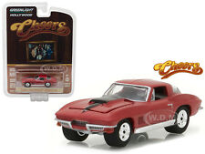 "1967 CHEVROLET CORVETTE STING RAY ""CHEERS"" TV SERIES 1/64 BY GREENLIGHT 44770 B"