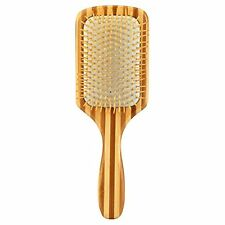 Bamboo Paddle Hair Brush-Detangling Scalp Massage Hair Comb for All Hair Types
