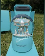 ‼️SUPER SALE⚜️❄️Brand New Tiffany And Co VIP Gift Music Carousel Snow Globe ❄️⚜️