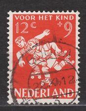 NVPH Netherlands Nederland 718 TOP CANCEL GOUDA Kinder zegel 1958 Pays Bas