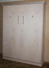 Murphy bed Queen Size, Unfinished Oak - Made By Murphy Wallbed USA