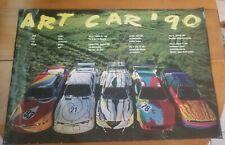 Used, presentable but RARE 1990 BMW Art Car Poster Calder, Warhol, Done, Stella!