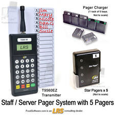 5 Server Pager Restaurant Paging Kit KIT-STAFF5 by Long Range Systems