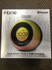 iPhone Color Changing Bluetooth Dual Alarm Clock + USB