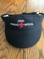 20th Reggae On The River Hat Visor Medical Black Humboldt California