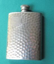 Hip Flask - hammered pewter by Michael Schofield