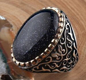 turkish jewelry 925 Sterling Silver SPECIAL Moon stone Mens Man ring us ALL SİZE