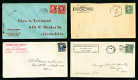 US Early Advertising Stamp Cover Lot of 8