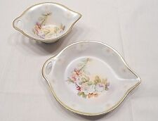 MADE IN GERMANY, TWO PORCELAIN FLOWER MOTIF DISHES