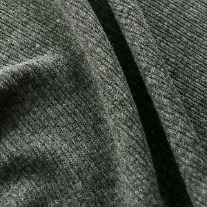 "Wool blend Rib Jersey - Grey - Stretchy - Dress fabric - 60"" wide"