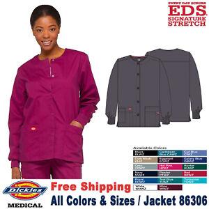Dickies Scrubs EDS SIGNATURE Women's Snap Front Warm up Jacket 86306