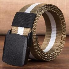 Fashion Men Women Automatic Nylon Belt Buckle Military Fans Tactical Canvas Belt