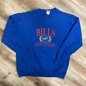 BUFFALO BILLS AFC EAST CHAMPIONS VINTAGE 1988 LOGO 7 NFL SWEATSHIRT LARGE