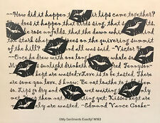 NEW MSE! My Sentiments Exactly! Unmounted Rubber Stamp W363 Kisses Background