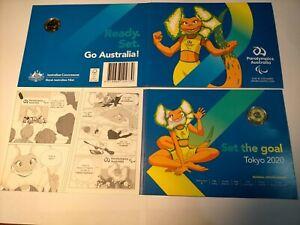 Australia 2020 Tokyo Paralympics $2 dollar Coloured UNC Coin in RAM Folder