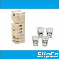 TUMBLE TIPSY TOWER SHOTS DRINKING GAME JENGA ADULT DRINK GLASSES PARTY UK SELLER