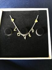 Bnib Genuine Pandora Bracelet Silver & Gold Plated LOVED Script Adjustable