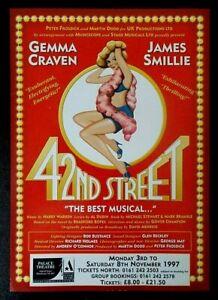 42nd Street A5 leaflet Manchester Palace Theatre 1997 Gemma Craven James Smillie
