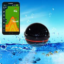105° Portable Wireless Bluetooth Smart Sonar Fish Finder HD Fishing LED Light