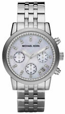 Womens MK Michael Kors MK5020 Silver Ritz Mother of Pearl Watch RRP £299