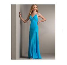 NICOLE BAKTI Turquoise and Rhinestone Gown, Size XL 12/14