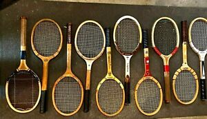 Vintage Wooden Tennis Racquet  Racket - Lot Of 10
