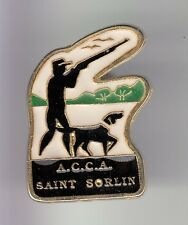 RARE PINS PIN'S .. SPORT CHASSE HUNTING CHASSEUR CHIEN SAINT ST SORLIN 73 ~C4