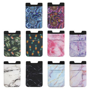 Credit Card Holder Cell Phone Wallet Pocket Sticker Adhesive Lycra High Quality