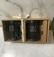 Rae Dunn Beer And Suds Steins Pint Size 2020 Collection Black