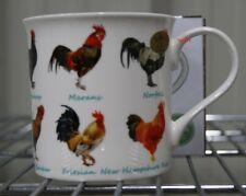 Fine China Cockerel Mug New in Box - Norolk Friesian Ancona Marans Barnevelder