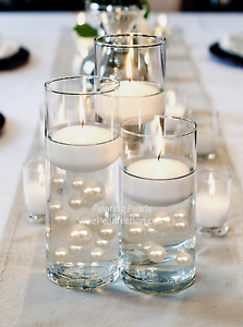 Floating Ivory Pearls - No Hole Jumbo/Assorted Sizes for Vase Decorations