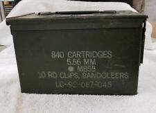 AMMO Can Box US Army Military 5.56MM Ammunition Metal Storage 840 Cartridge (11I