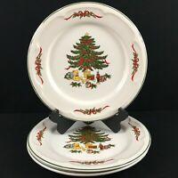 "Set of 3 VTG Christmas Tree Dinner Plate Vitromaster Stoneware Holiday 11"""