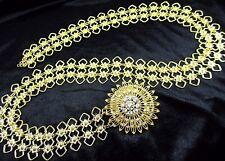 GOLD PLATED VINTAGE THAI TRADITIONAL COSTUME WOMEN FASHION WEDDING CHAIN BELT