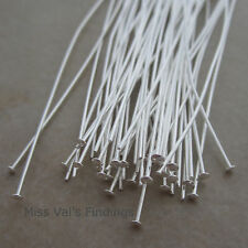 500 silver plated brass jewelry headpins 4 inch 21 gauge