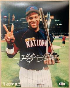 Chicago Cubs Sammy Sosa Signed 11 x 14 HR Derby Photo - Auto Beckett BAS Witness
